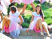 Hot bridesmaids upskirts on cam