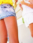 Voyeur upskirts with hot butts