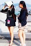 Japan girls upskirts on stairs