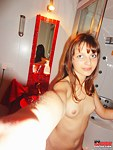 Panty girl Liona taking shower