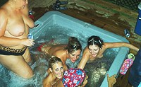 Lesbian Party in the Hot Tub