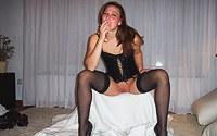 Teeny babe shows pierced puss
