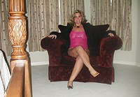 Milf in translucent clothing at home