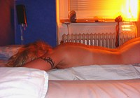 Blonde girl loves to strip on photo