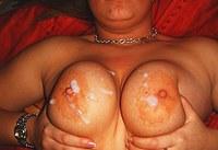 Private creampie & cum on tits