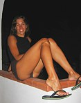 My babe shows off her slender legs