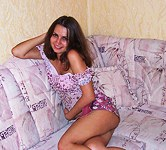 Slender brunette with perfect body