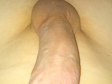 my hard dick with a cock ring in it